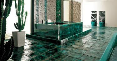 Зелена баня символ на свежест и елегантност