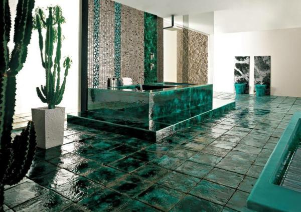 zelena banq stakleni plochki kaktusi