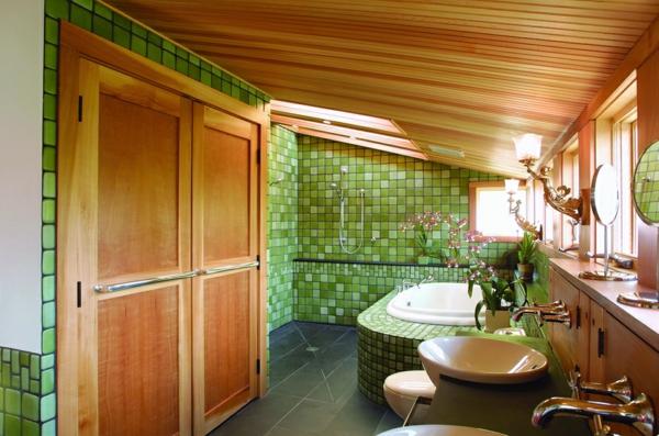 zelena banq mozaika darvo shkafove