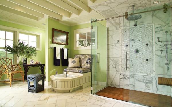 banq zelena dush kabina staklo