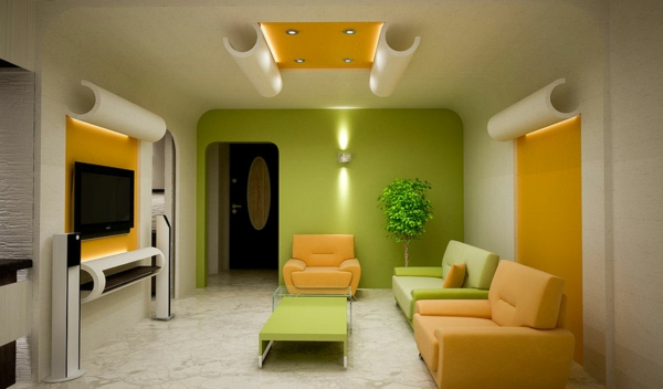 zeleno hol jalto moderen stil