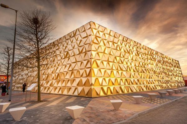 zlato sgrada arhitektura magazini fasada