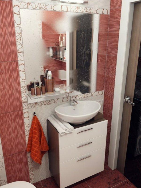 banq dizain bqlo cherveno obzavejdane plochki interior mivka