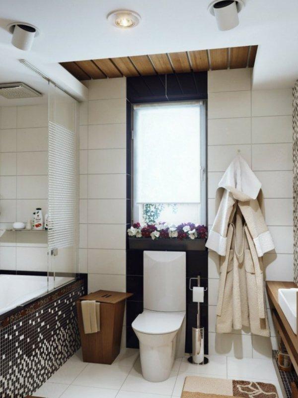 interior banq dizain cherno kafqvo mozaika bqlo