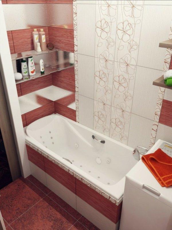banq dizain obzavejdanevana interior cherveno plochki bqlo