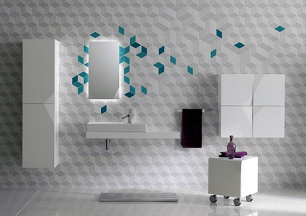 banq dizain stena plochki obzavejdane bqlo