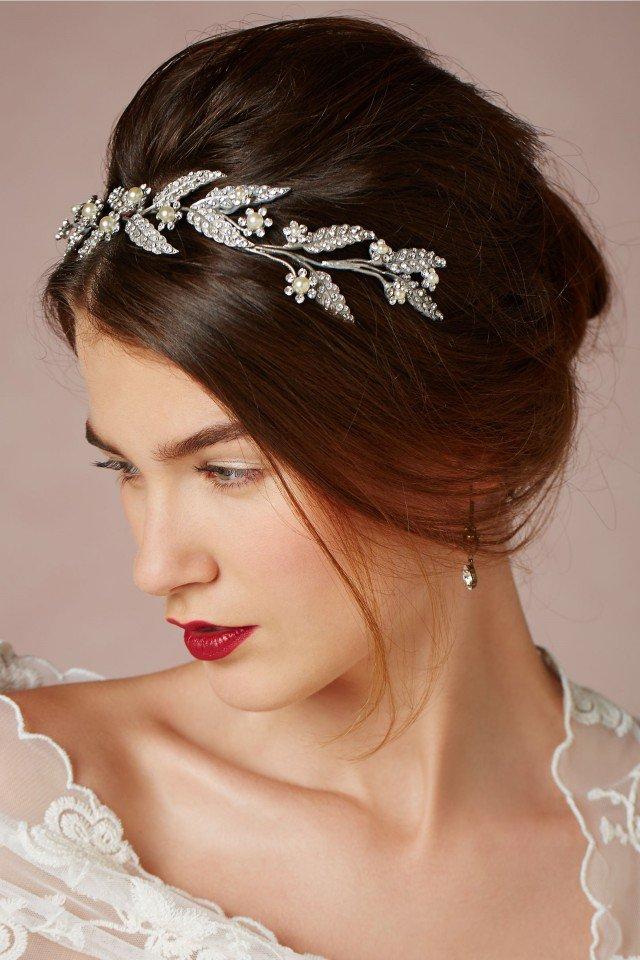 bulka svatba diadema pricheska ideq biju kristali perli