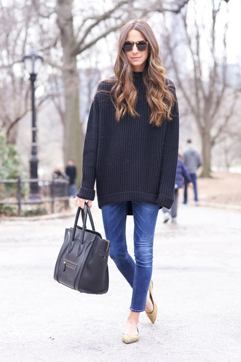 cheren pulover proletni vizii