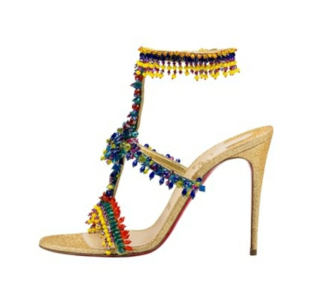 damski sandali visok tok louboutin