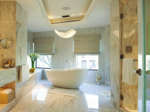 dizain interior banq moderen savremenen stil obzavejdane vana mramor