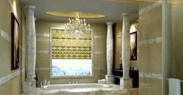 Интериорен дизайн в малка и луксозна баня