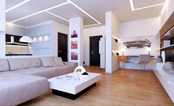 dizain interior hol minimalistichen stil bqlo obzavejdane
