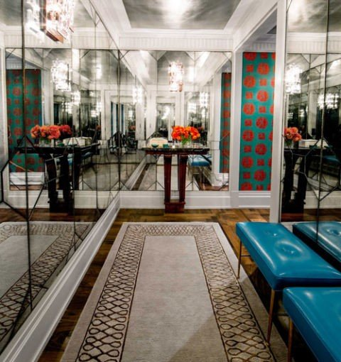 dizain koridor idei interior obzavejdane ogledala