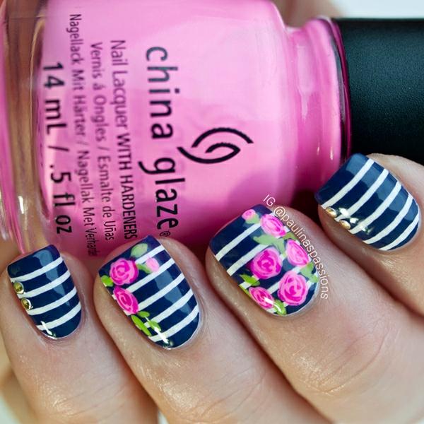 prolet manikiur cvetq rozi rozovo nokti raie cherno bqlo