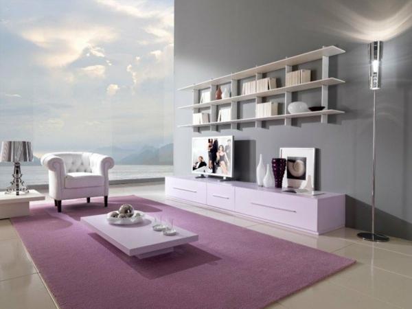 hol dizain minimalistichen stil interior rozovo sivo obzavejdane