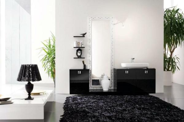 idei kilim banq cherno moderen stil interior obzavejdane