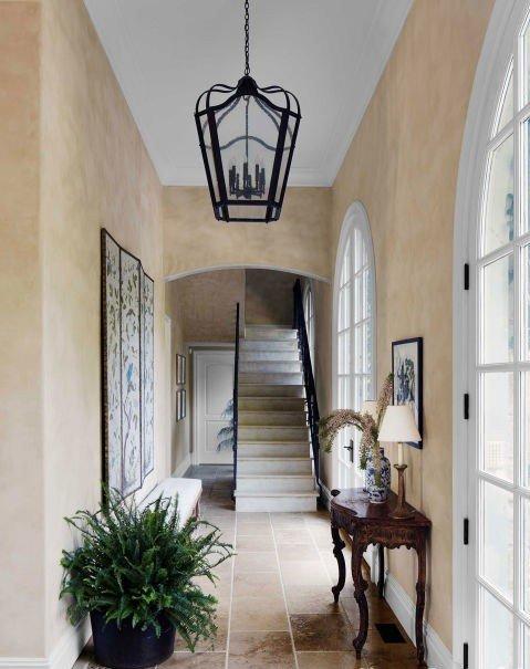 idei korido dizain bejovo interior obzavejdane frenski stil