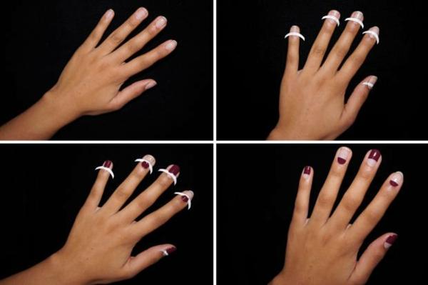 idei manikiur cherveno napravi si sam lentichki formi nokti