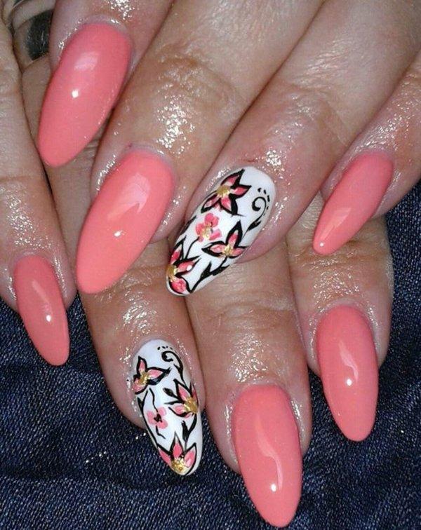 idei manikiur rozovo nokti cvetq prolet