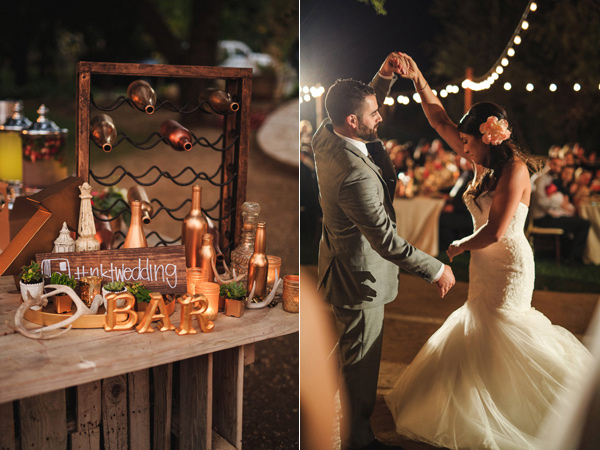 ideq za svatba dekoraciq masa mladojenci darvo