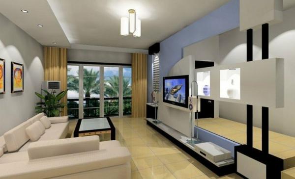 interior hol dizain minimalistichen stil divan bqlo
