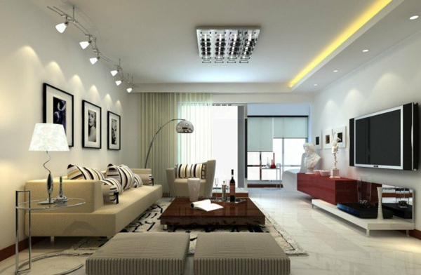 interior hol dizain minimalistichen stil obzavejdane bejovo divan