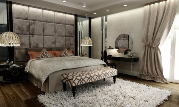 iziskana spalnq luksozen stil interior obzavejdane sivo bqlo