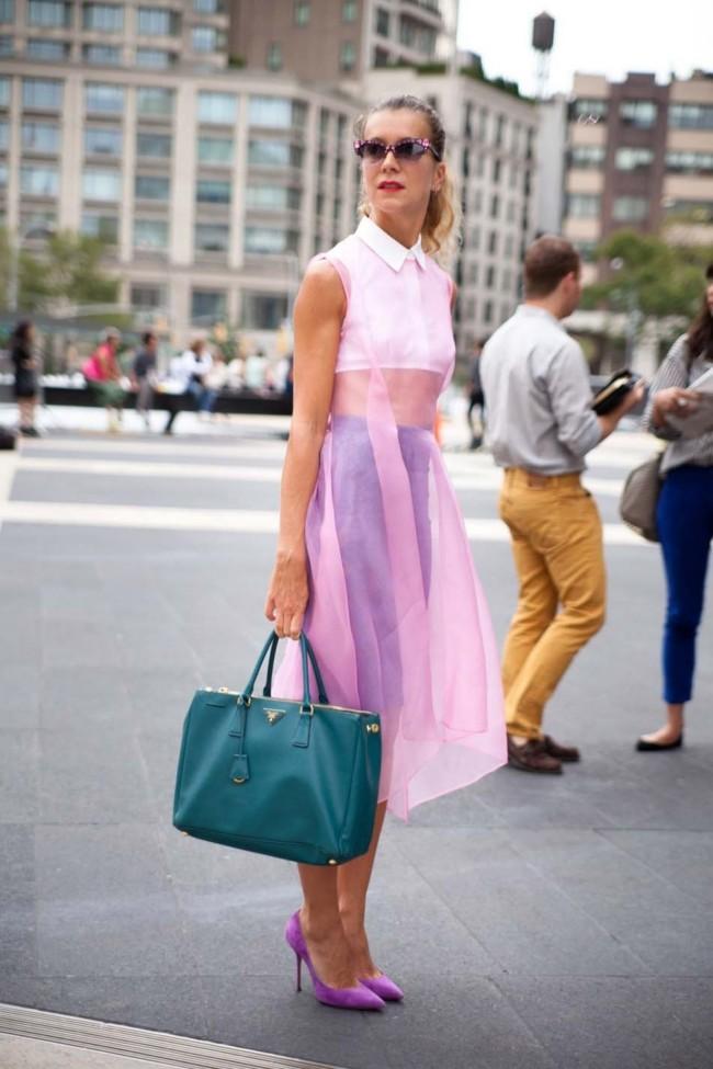 letni vizii stil rozovo shifon