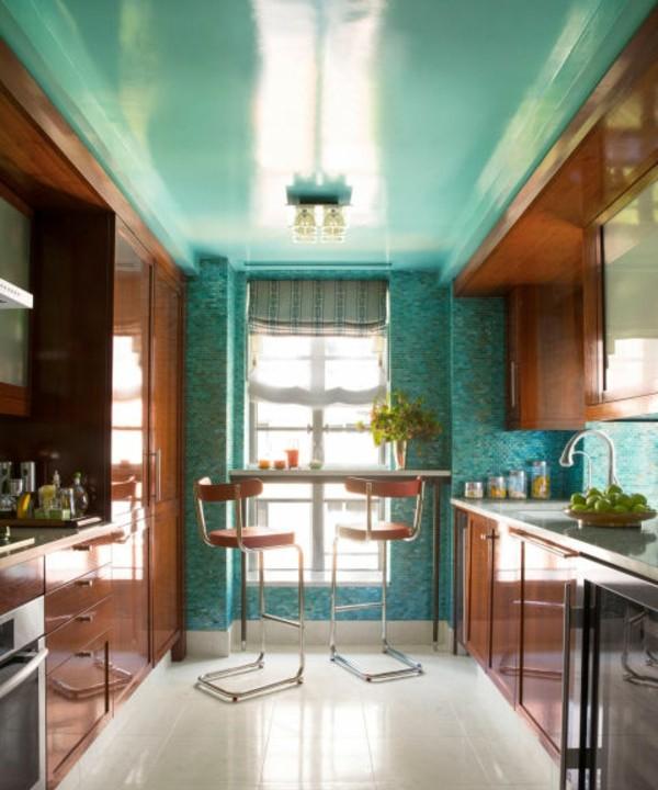 malka kuhnq dizain interior mozaika plochki obzavejdane mebeli darvo zeleno