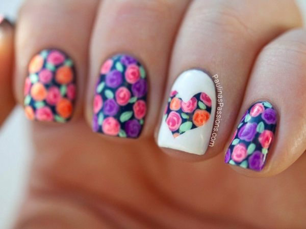 manikiur idei prolet dizain nokti cvetq rozi rozovo lilavo
