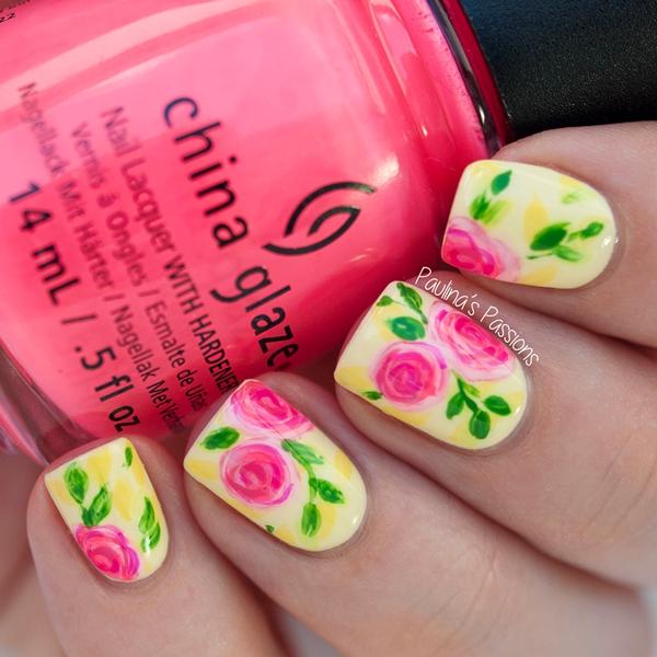 idei prolet manikiur dizain rozi cvetq jalto rozi rozovo