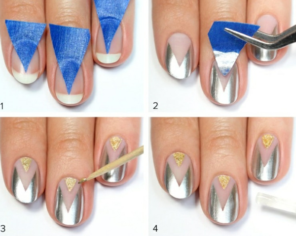 manikiur idei sivo zlatisto napravi si sam nokti
