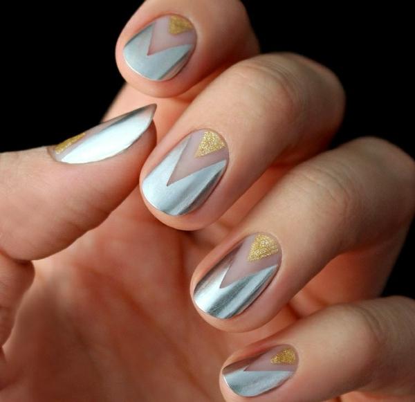 manikiur idei sivo zlatisto nokti formi