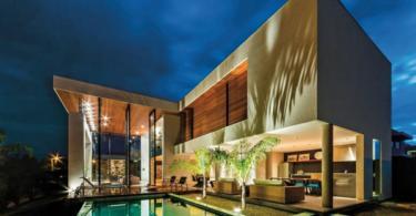 Модерна двуетажна къща в Бразилия