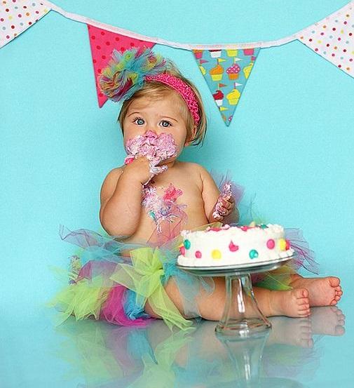 торта за първи рожден ден на момиченце