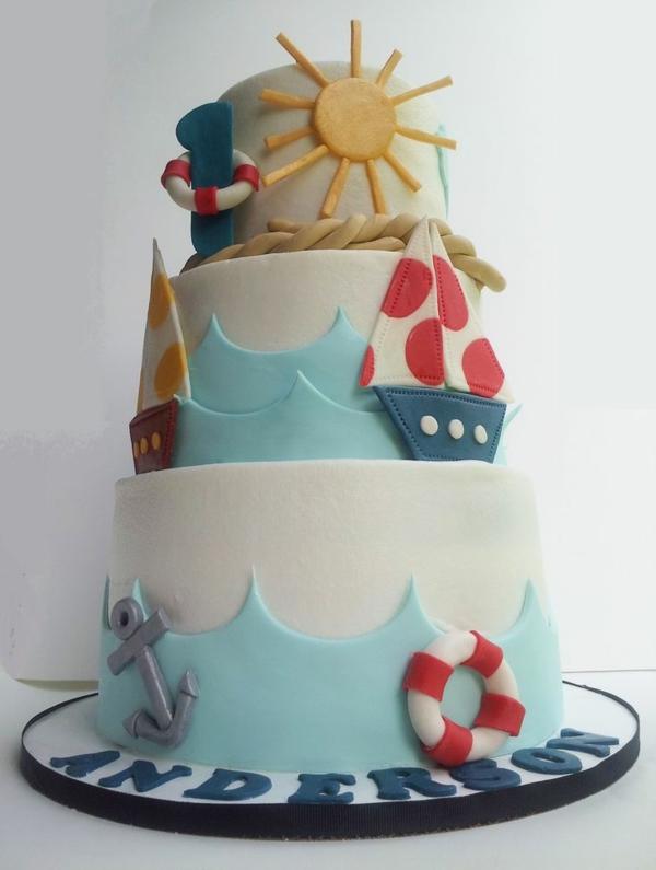 торти-за-малките-момчета-на-една-година-морска-триетажна