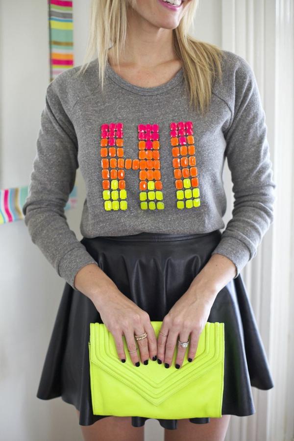 napravi si sam bluza nadpis dekoraciq
