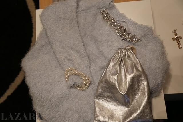 pulover srebrista chanta