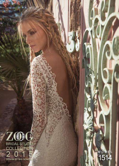 сватбени рокли с дантела и гол гръб