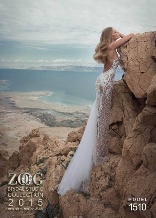 сватбени рокли с мрежа дантела 2015