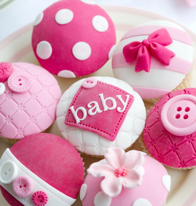 rozovi mafini bebeshko parti momiche ideq