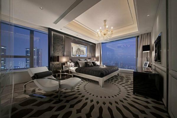 spalnq interior iziskana obzavejdane luksozen stil sivo leglo kilim