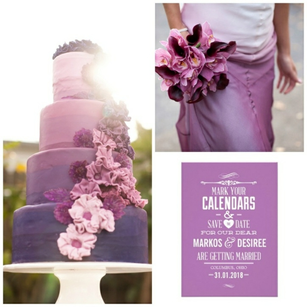 сватбена торта 2015 лилава