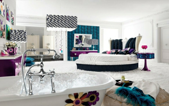 staq tineidjar luksozen stil interior obzavejdane leglo bqlo