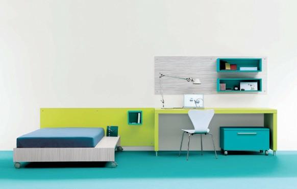 interior spalnq tineidjar minimalistichen stil obzavejdane