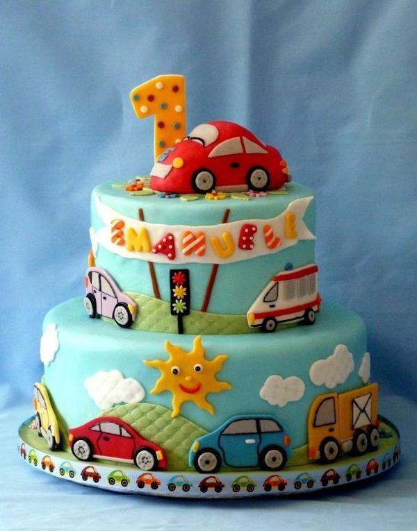 торти-за-малките-момчета-на-една-година-коли
