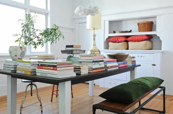 trapezariq v eklektik stil interior masa stolove obzavejdane