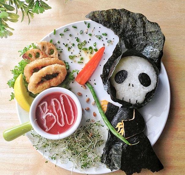 Halloween hrana dekoraciq kreativna