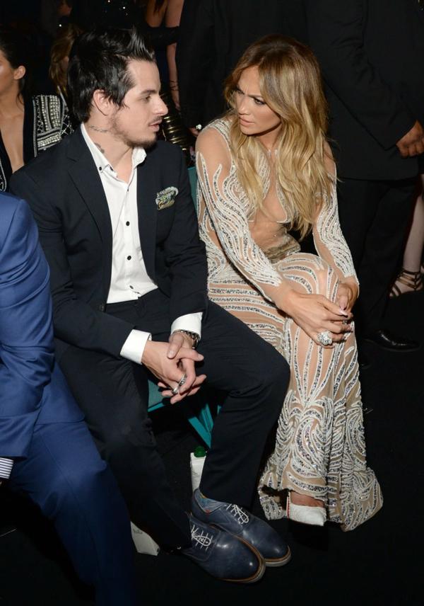 Jennifer Lopez Casper Smart 2015 Billboard Music Awards