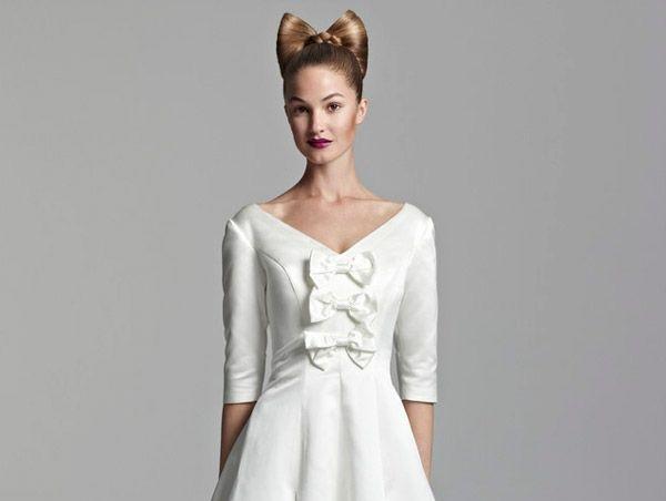 булчинска рокля с панделки